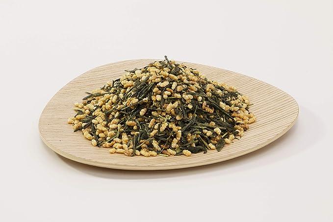 【国産有機茶100%】〈業務用サイズ 1kg〉 茶葉 リーフ (玄米茶(抹茶入))
