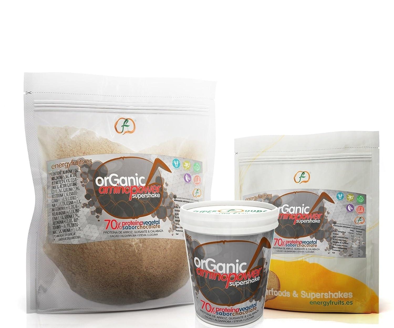 Energy Feelings Organic Aminopower Ecológico 70% de Proteínas con Sabor Chocolate, Tarrina - 250 gr: Amazon.es: Salud y cuidado personal