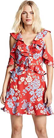 C/MEO COLLECTIVE Women's Questions Cold Shoulder Fit and Flare Mini Dress