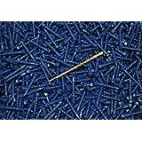 1//4 X 2-3//4 Phillips Flat Head Concrete Screws, Ships FREE in USA 1200pcs Bulk//Wholesale Carton Tapcon Style BLUE