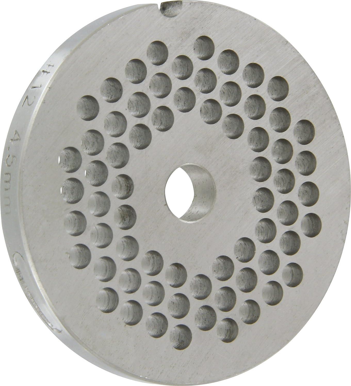 4,5 INOX ACCIAIO INOX 18//18 per tritacarne elettrico n.12 diametro fori:4,5 millimetri 12 D REBER PIASTRA TRAFILA PIASTRA TC