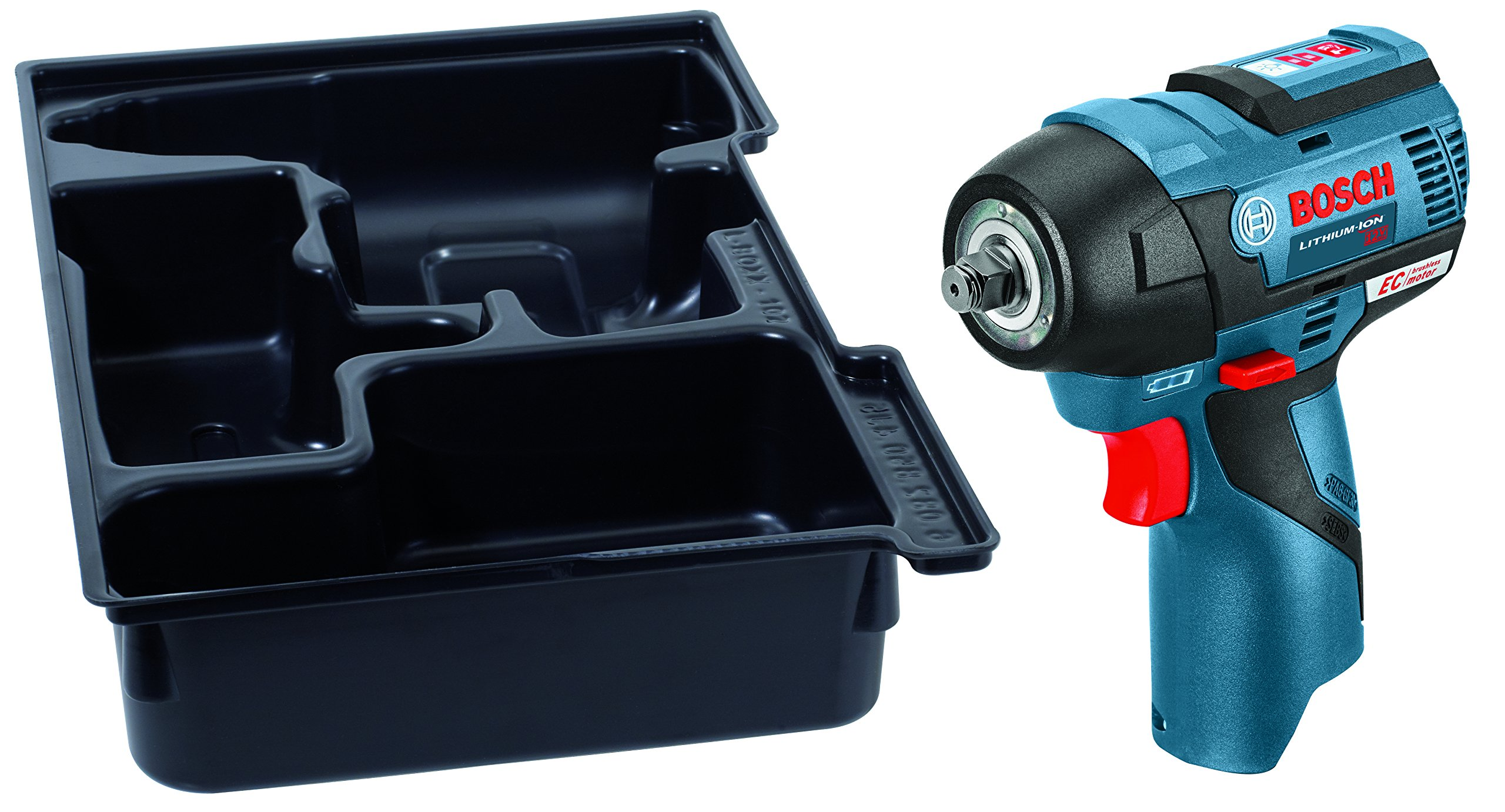 Bosch PS82BN 12V Max EC Brushless 3/8'' Impact Wrench with Exact-Fit Insert Tray