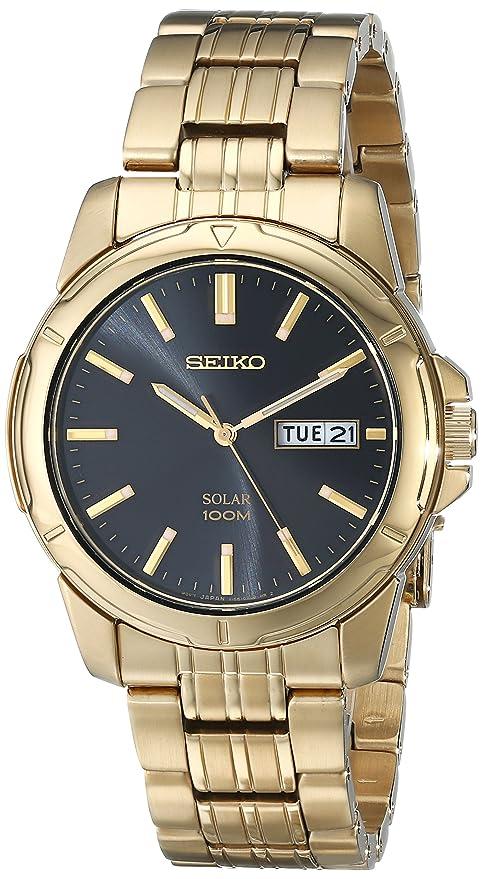 c06eab0e5 Amazon.com: Seiko Men's SNE100 Solar Functional Watch: Seiko: Watches