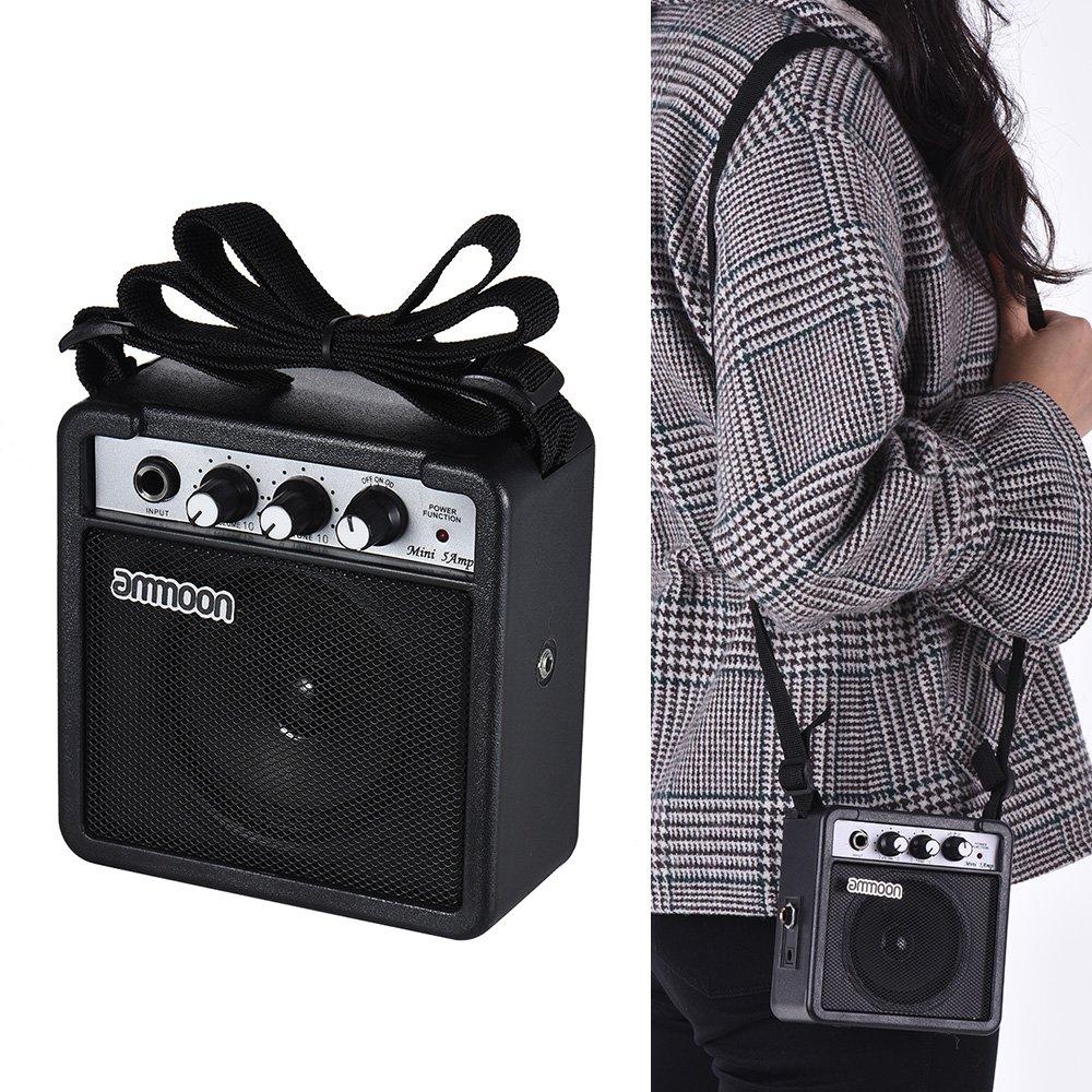 Ammoon amplificador de altavoz para guitarra acústica/eléctrica ukelele alta sensibilidad MINI 5 Watt 9 V con Volume Tone Control: Amazon.es: Instrumentos ...