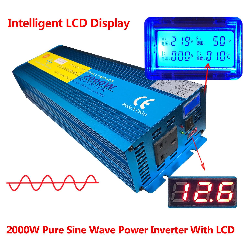 Inversor de corriente de arranque suave de onda sinusoidal de IutuanIPower, para coche, caravana