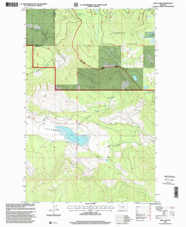 Amazon.com : YellowMaps Dahl Lake MT topo map, 1:24000 Scale, 7.5 X on