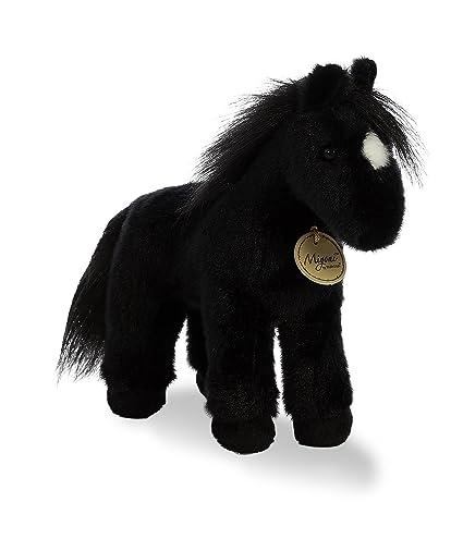 Amazon Com Aurora World Miyoni Plush Black Horse Plush Toy Black