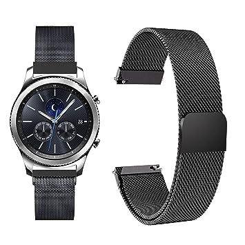 Fullmosa 22mm Bracelet de Montre Milanais Compatible avec Gear S3/Samsung Gear S3 Frontier/