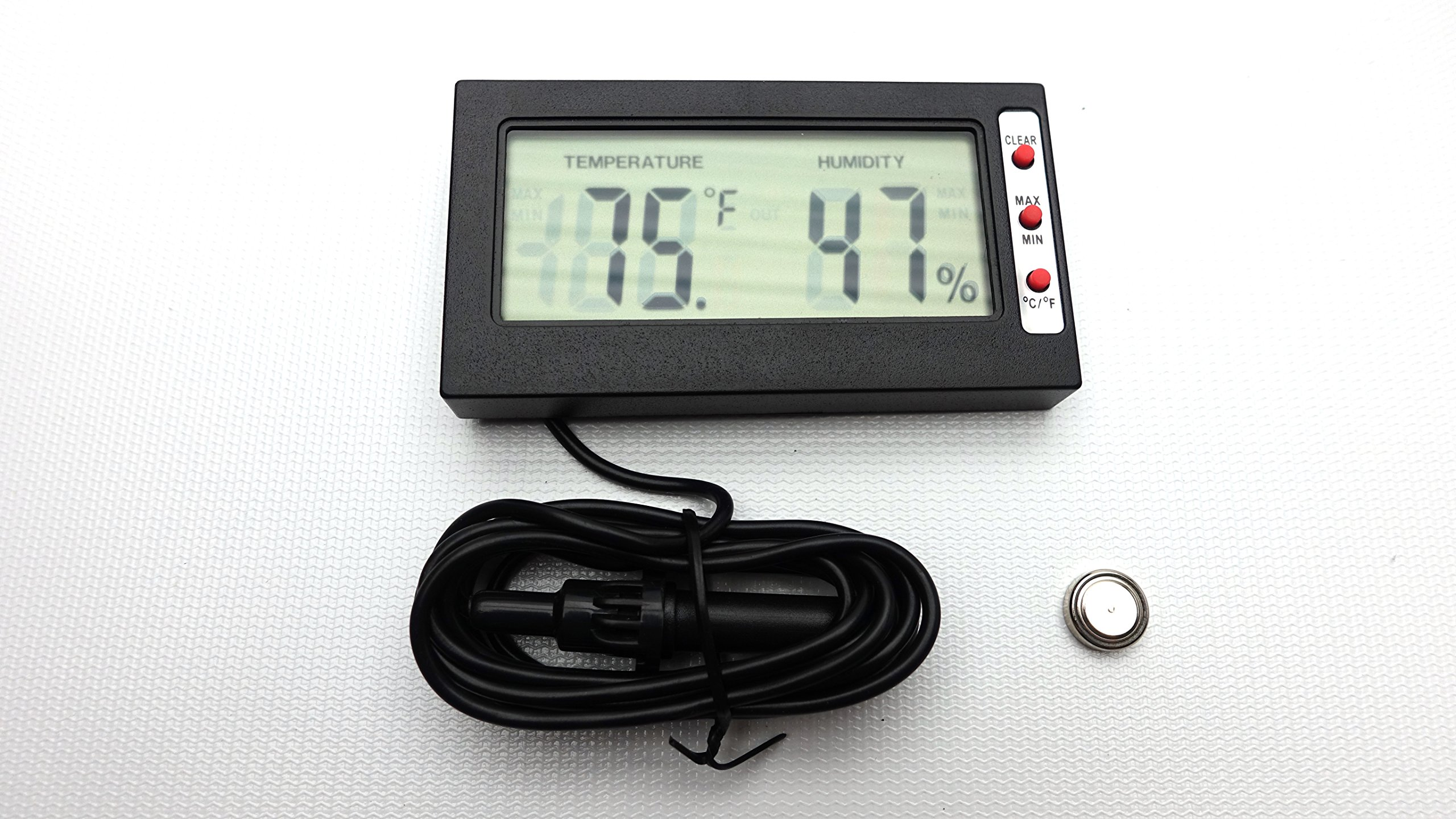 Carolina Custom Cages Reptile Digital Thermometer and Hygrometer on Single Probe by Carolina Custom Cages