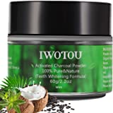 Iwotou Teeth Whitening Charcoal Powder, Natural Activated Charcoal Teeth Whitener of Organic Coconut Shells [UPGRADE Special Formula - EASIER To Rinse]