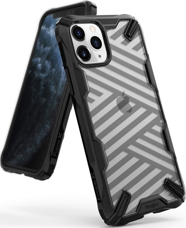 Ringke Fusion X Design Case Compatible with iPhone 11 Pro Max Case (2019) - Stripe Black