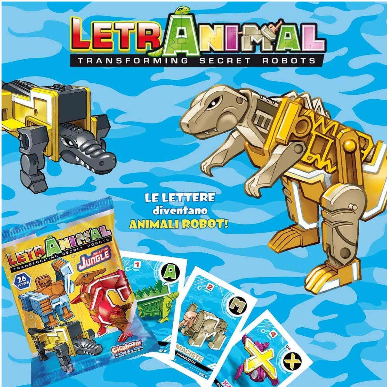 Sbabam Display 10 Unidades LetrAnimal Transforming Secret Robots Jungle Collection