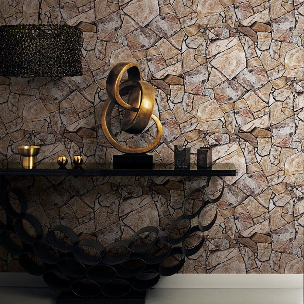 3D Original Stone Rock Brick Marble Granite PVC Coated Waterproof Wallpaper S