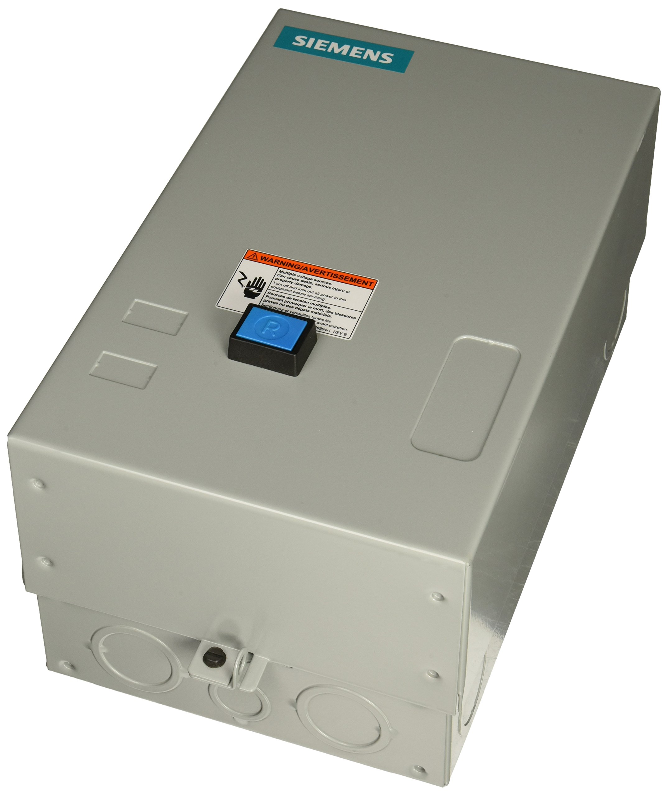 Siemens 14FUF32BH Heavy Duty Motor Starter, Solid State Overload, Auto/Manual Reset, Open Type, NEMA 1 General Purpose Enclosure, 3 Phase, 3 Pole, 2 NEMA Size, 13-52A Amp Range, B Frame Size, 440-480 at 60Hz Coil Voltage