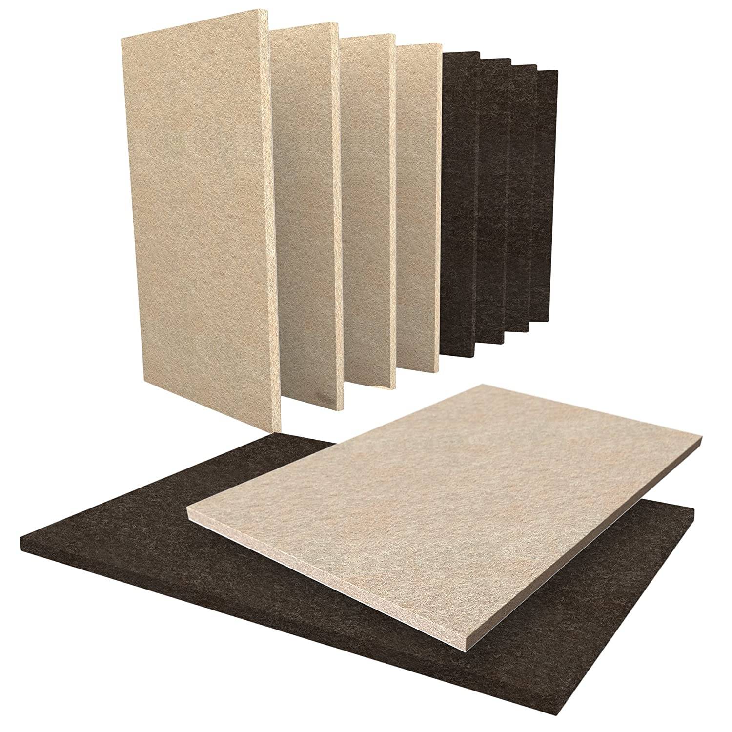 Floor Protectors 10 Piece Furniture Pads, 5 Large Beige 15x11cm Felt Pads & 5 Large Brown 15x11cm Felt Furniture Pads. Felt Pads for Furniture That Can Be Cut to Size. Furniture Floor Protectors SIMALA