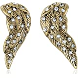"Betsey Johnson ""Heaven Sent"" Crystal Wing Stud Earrings"