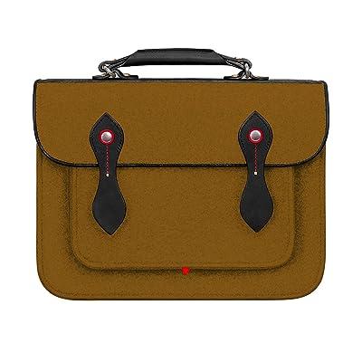 TOPHOME Macbook bag Backpack School College Bookbags 13.3 Inch College Backpack Laptop Bag School Travel Daypack Cambridge Wool Felt Leather Vintage Crossbody Messenger (brown)