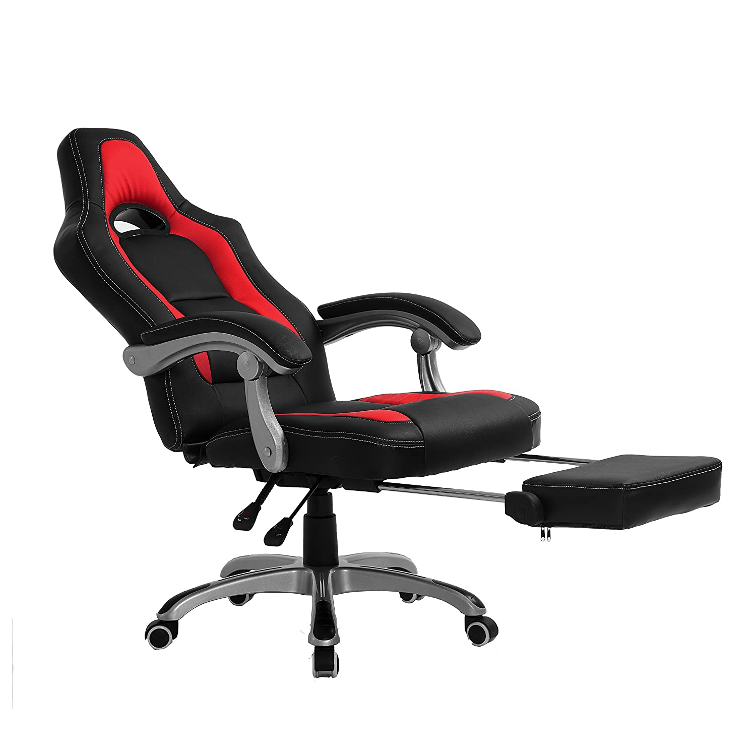 CTF Racing Sport Reclining High Back Swivel Chair with Foot Stool