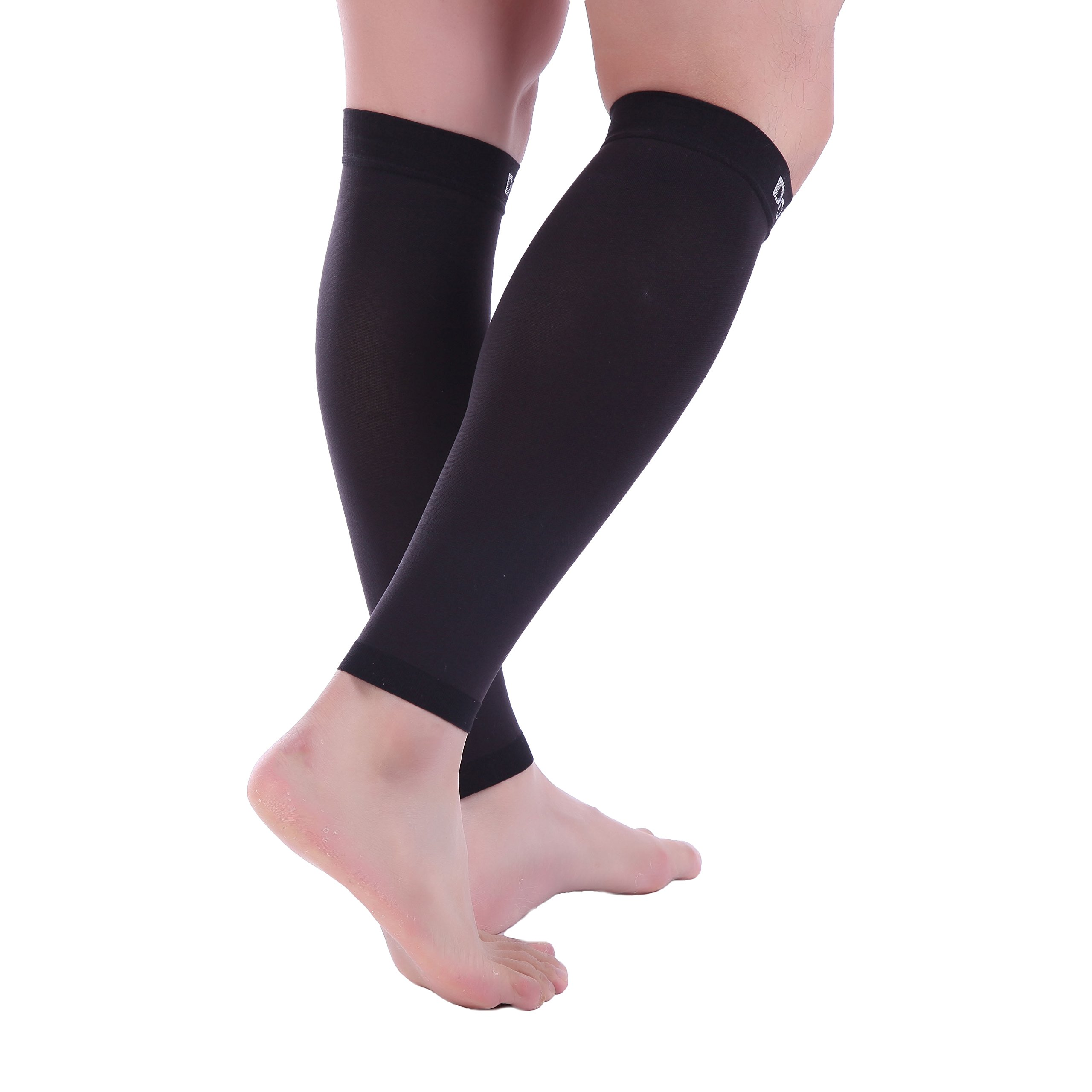 Doc Miller Premium Calf Compression Sleeve 1 Pair 20-30mmHg Strong Calf Support Graduated Pressure for Sports Running Muscle Recovery Shin Splints Varicose Veins (Black, 2-Pack, Small) by Doc Miller (Image #7)