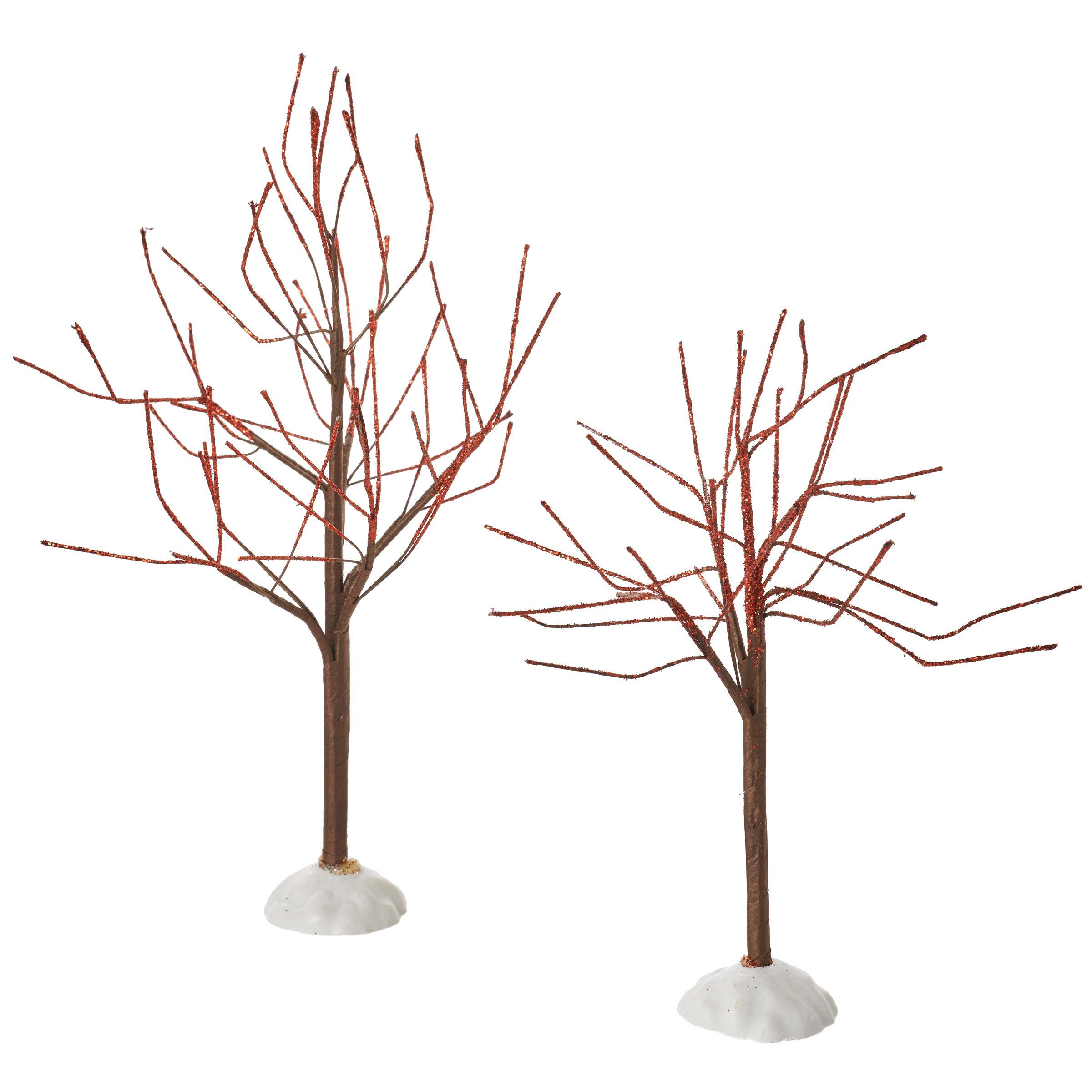 Department 56 Accessories for Villages Red Sparkle Trees Accessory Figurine (Set of 2)