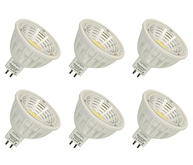 Equivalente 50-60W Luz halógena MR16 5.5W LED Bombillas GU5.3 COB Spotlight