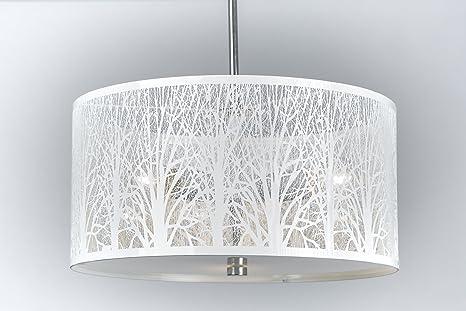 Hängelampe | Hängeleuchte | Lampe | Natur | Deckenlampe 40cm Weiß ...