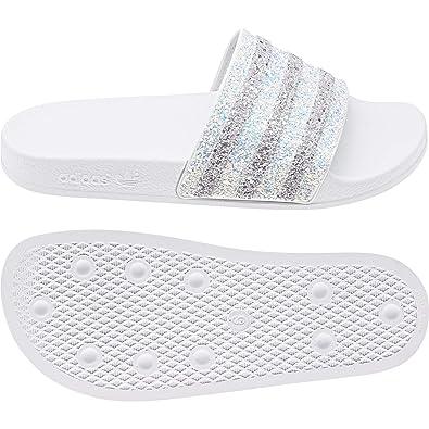 adidas Originals Badelatschen Adilette EE4810 Weiss: Amazon.de ...