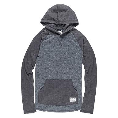 07d43bc5f09 Element Men s Ewell Long Sleeve Hooded Shirt - Grey -  Amazon.co.uk ...