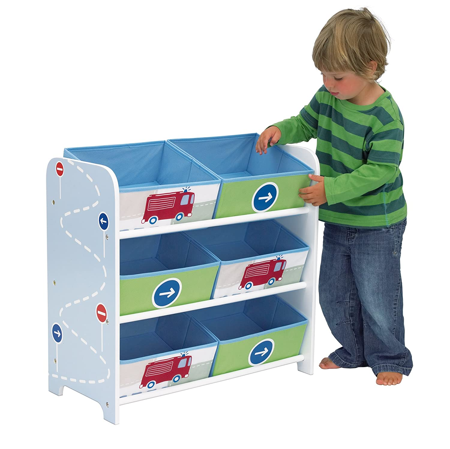 Merveilleux Vehicles Kids Bedroom Storage Unit With 6 Bins By HelloHome: Amazon.co.uk:  Kitchen U0026 Home