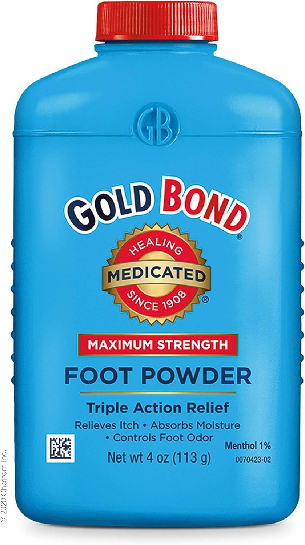 Gold Bond Maximum Strength Foot Powder 4 Ounce: Health & Personal Care
