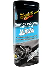Meguiar's G4200 New Car Scent Protectant Wipes (25 Wipes)