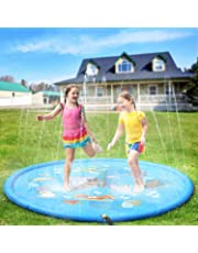 Kids Water Spray Pool Toy, PVC Sprinkler Cushion for Summer Fun Beach Outdoor Lawn Garden Patio Play (Blue 170cm)