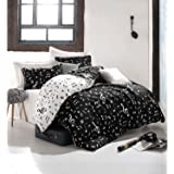 LoveForHome Black And White Music Duvet Cover Set,Full Double, Queen Size,  Written