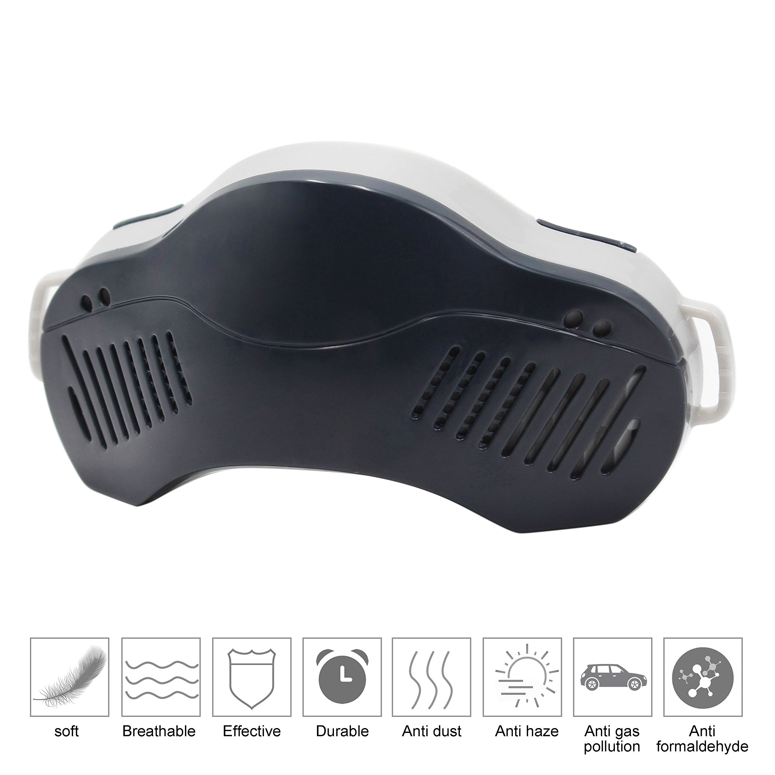 QILOVE Nose Nasal Filter Defense Against Haze, Gas, Pollen, Dust, second-hand smoke, Air Pollution PM2.5 etc (Deep Gray)