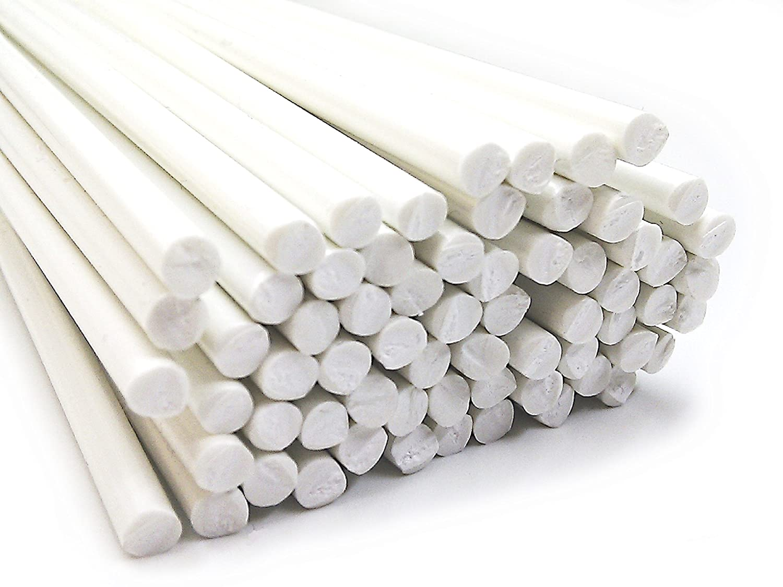 Kunststoffschwei/ßdraht PVC-U Hart 4mm Rund Wei/ß 25 St/äbe