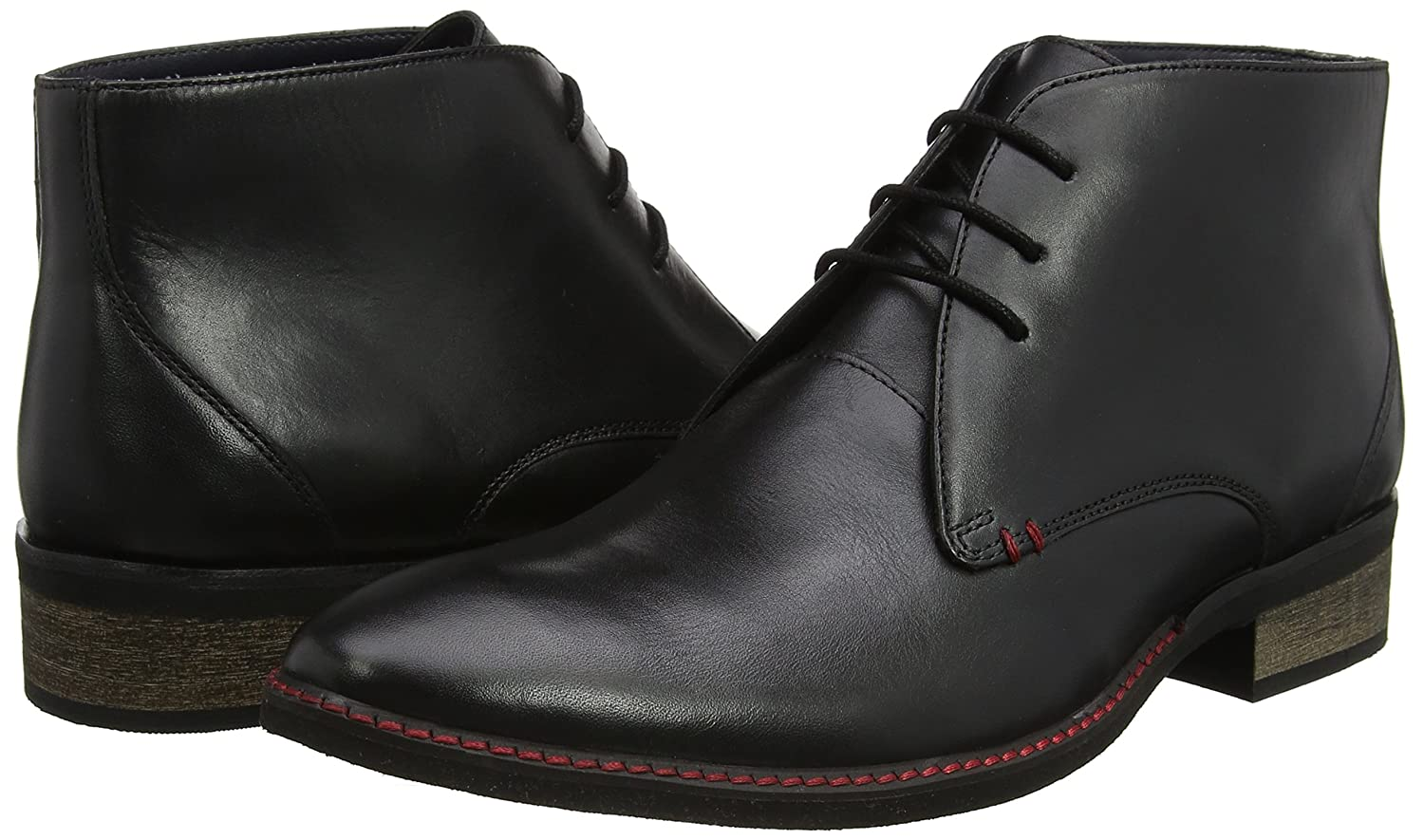Lotus Harlington, Stivali Uomo, Nero (Black Leather Blk Lth