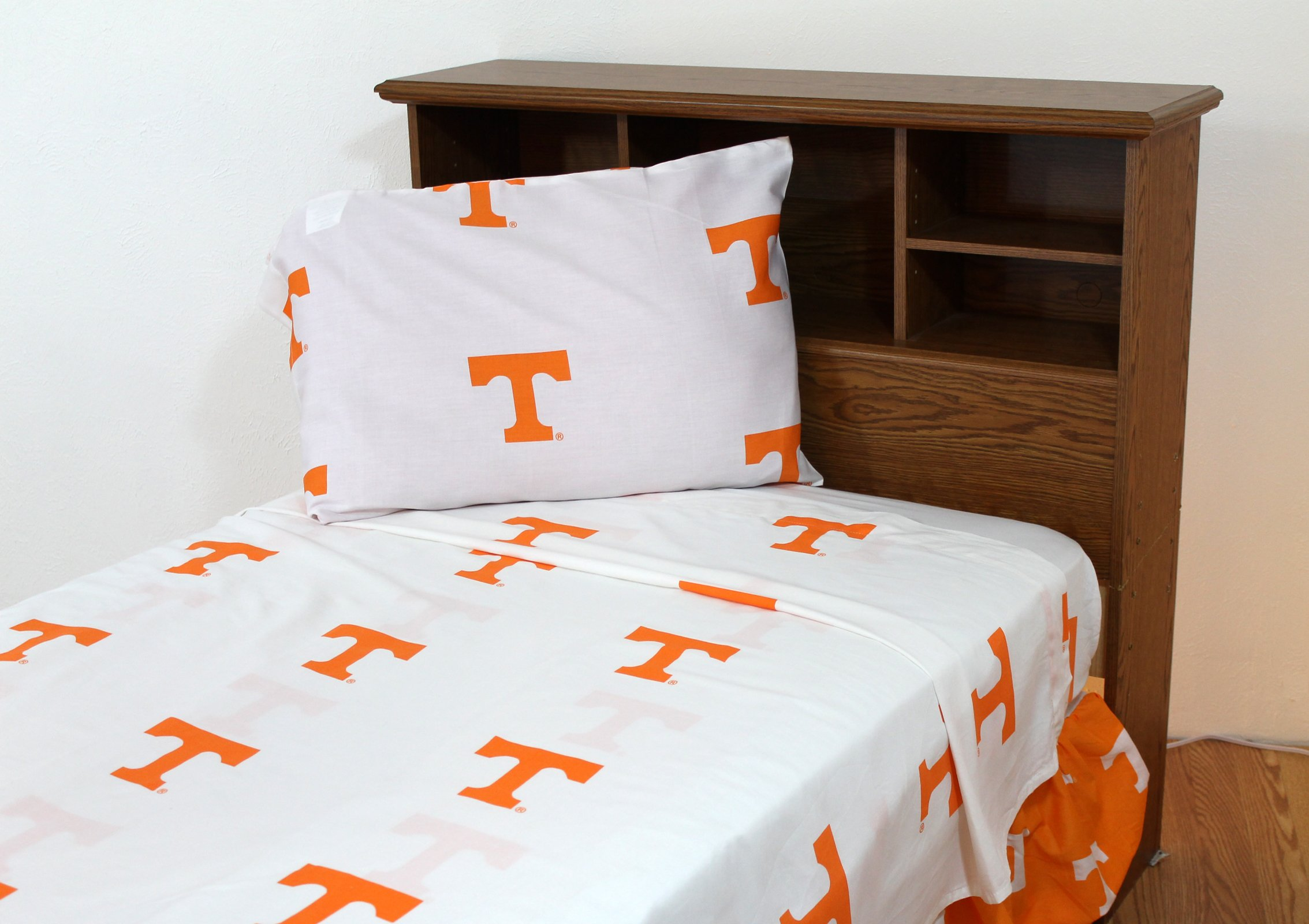 College Covers Tennessee Volunteers Printed Sheet Set - King - White by College Covers
