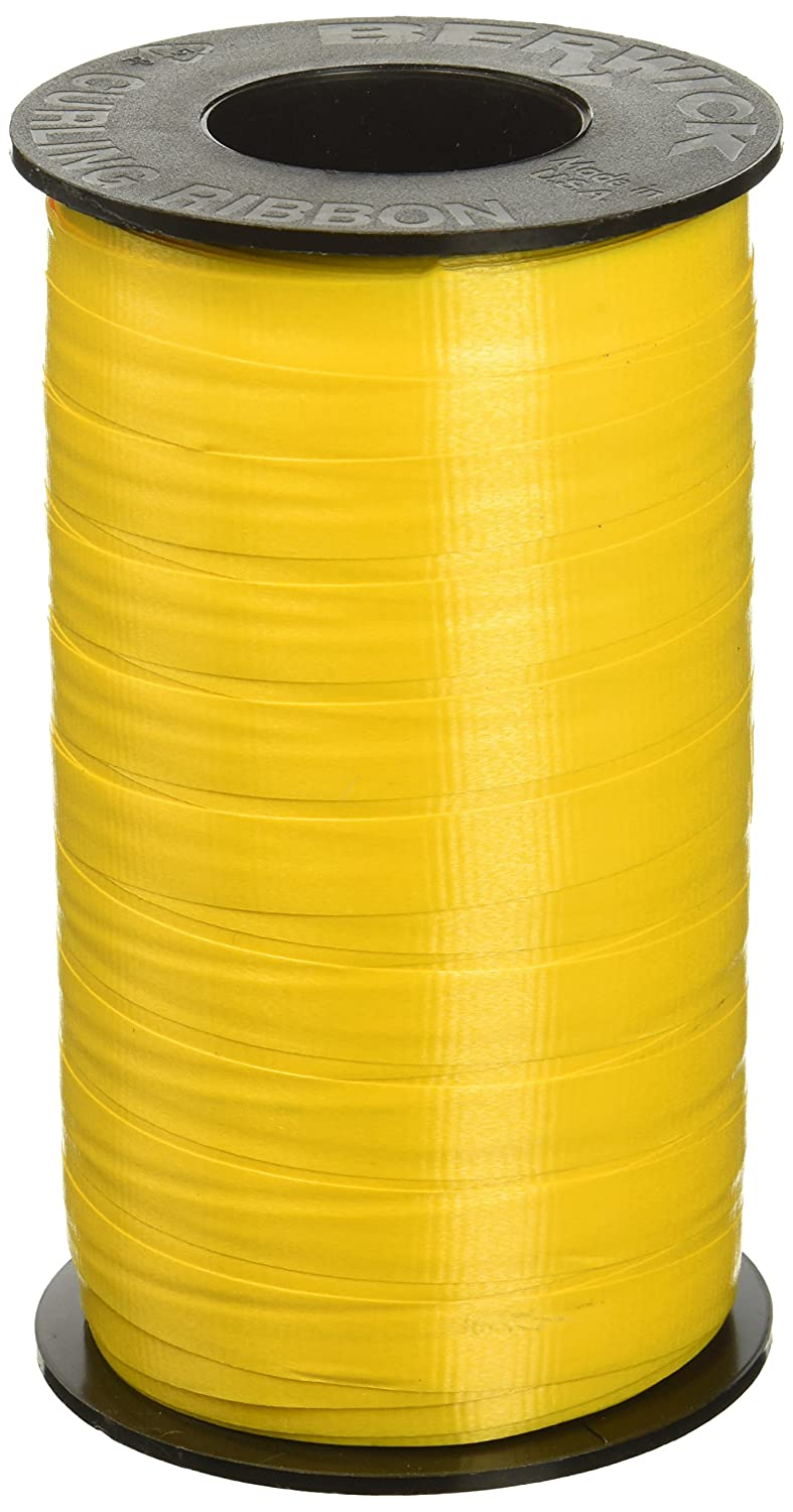Holiday Gold Berwick 3//8-Inch Wide by 250 Yard Spool Super Curl Crimped Splendorette Curling Ribbon