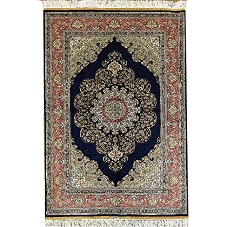Amazon Com Oriental Rugs Persian Tabriz Silk Carpet Hand Knotted