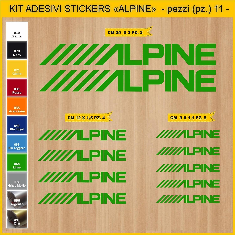 Motocicletas 11 Piezas Cod.0778 para Motos Pimastickerslab Pegatinas Adhesivos Alpine