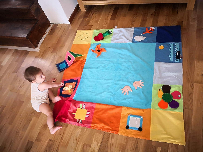 Busy mat Babies Play mat New Born 6 Months babies,Babies Activity mat Handmade Product Tantino Activity mat 125x125 cm 100/% Sewn Baby Floor mat Montessori mat Sensory mat Twins