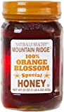 Naturally Healthy Mountain Ridge 100% Orange Blossom Honey, 22 Ounces Glass Jar