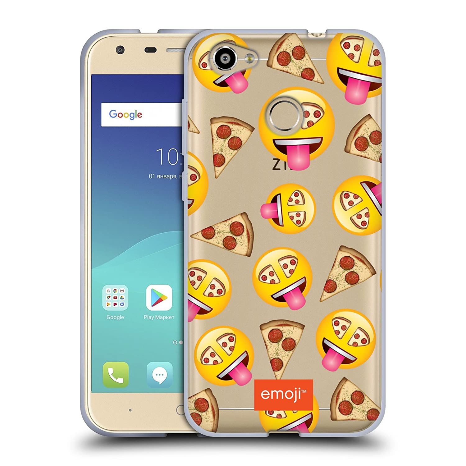 Amazon Com Official Emoji Pizza New Expressions Soft Gel Case For