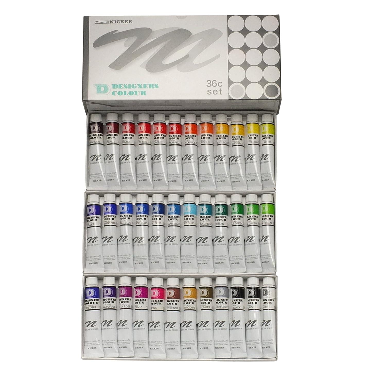 ニッカー 水彩絵具 デザイナースカラー 36色セット 20ml(6号)   B001SN8NFM
