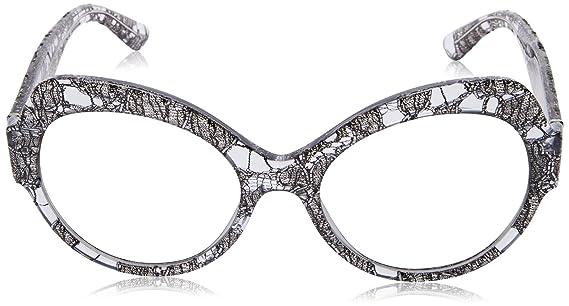 Dolce & Gabbana Damen Sonnenbrille 0DG4320 31616V, Grau (Gunmetal Lace/Greymirrorsilvergradient), 56