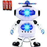 Toysery Electronic Walking Dancing Robot Toys Music Lightening Kids Boys Girls Toddlers, Battery Operated Included