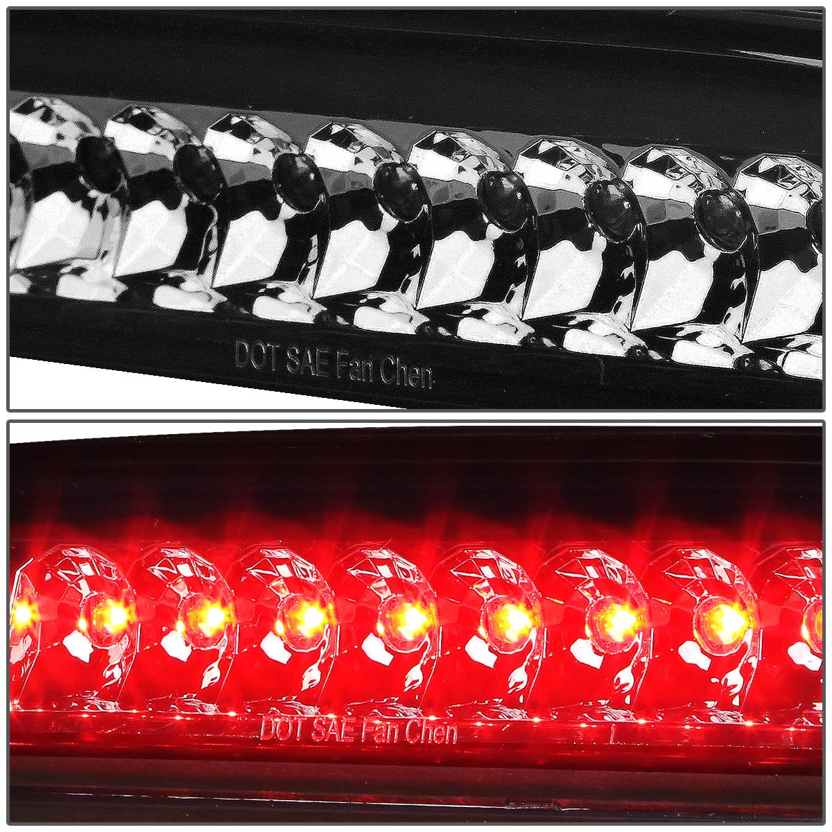 For Tacoma Single Row High Mount Led 3rd Brake Light Wiring Truck Cap Smoke Lens Automotive