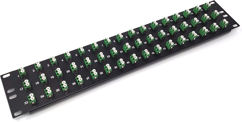 Loaded 1u 19 12 Port LC Fiber Patch Panel Multimode