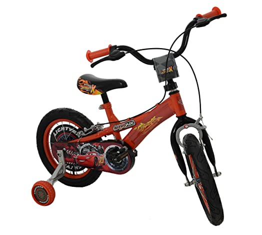 Disneynitroade Boys Kids Bike Red Steel Frame 1 Speed Front And