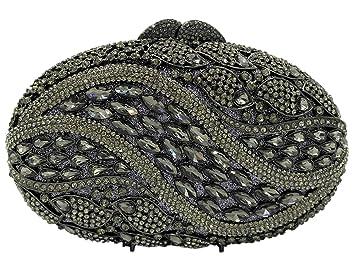 Bolso Mujer Noche Bolsas Fiesta Boda Cartera Brillo Mano Diamantes Cadena Embrague Negro: Amazon.es: Equipaje